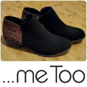 NWOB ...Me Too leopard print booties